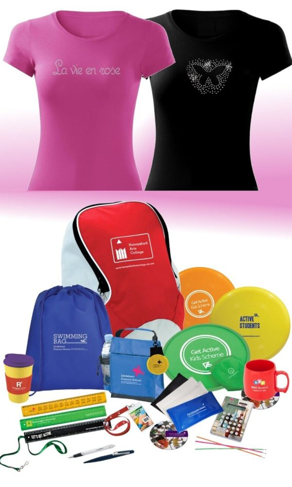 personalised clothing and promotional materials